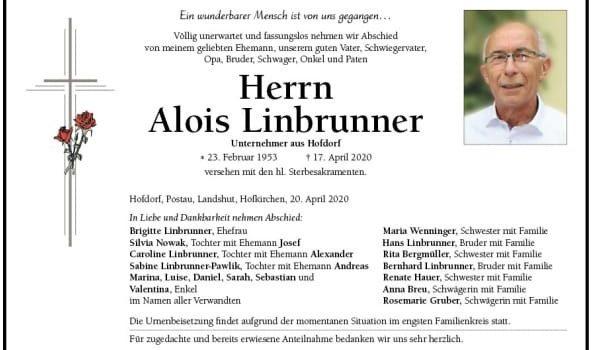 LT trauert um Firmengründer Alois