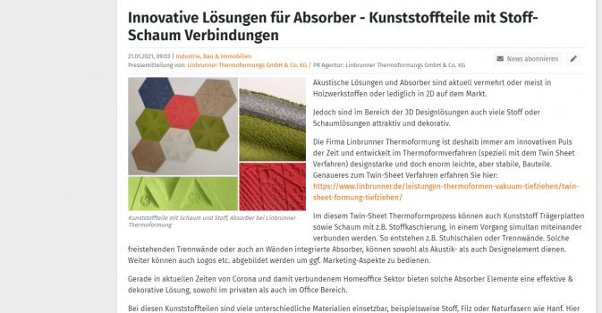Akustibereich & Absorber - Kunststoff Schaum Produkte