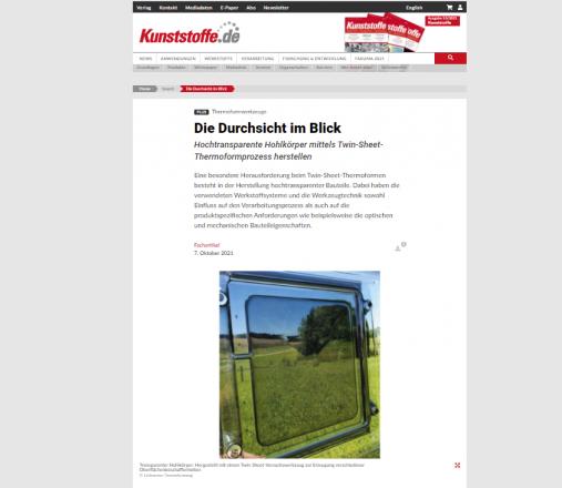 Artikel in Kunststoff.de